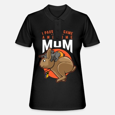 Mother's day gift mother son daughter child hare - Women's Polo Shirt