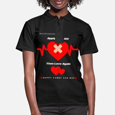Aid First aid with a broken heart gift - Women's Polo Shirt