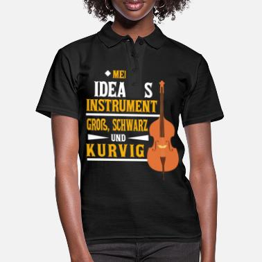 Jazz Funny looking cello - cello - Women's Polo Shirt