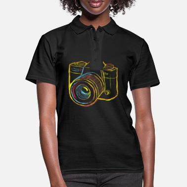 Weekend Camera Strokes gift for Photographer - Women's Polo Shirt
