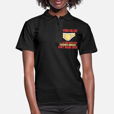 Underwear A Nice Share Tee For A Sharing You Passwords Are - Women's Polo Shirt