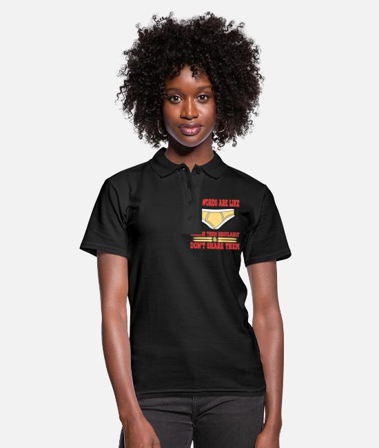 "Heart Polo Shirts - A Nice Share Tee For A Sharing You ""Passwords Are - Women's Polo Shirt black"