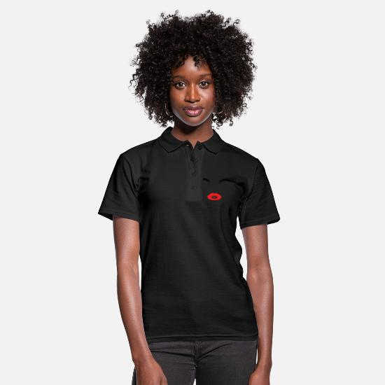 Lash Polo Shirts - 1Feminine Tee For Girls With A Nice Illustration - Women's Polo Shirt black