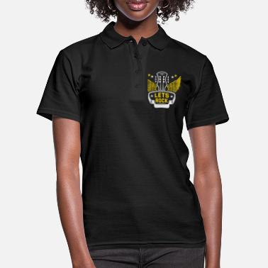 Rockabilly Rock n roll rock música rock and roll guitarrista - Camiseta polo mujer
