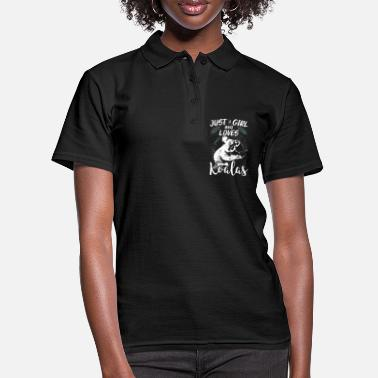 Brilliant Just a girl who loves koalas koala bear - Women's Polo Shirt
