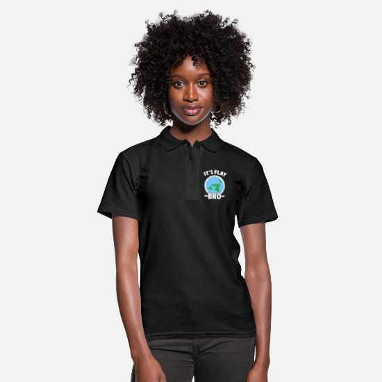 Gift Idea Polo Shirts - Flat Earth Flat Earth Conspiracy Gift - Women's Polo Shirt black