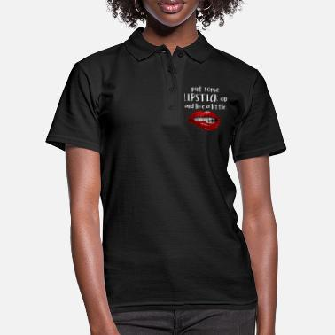 Zunge Lippen / live a little with lipstick - Frauen Poloshirt