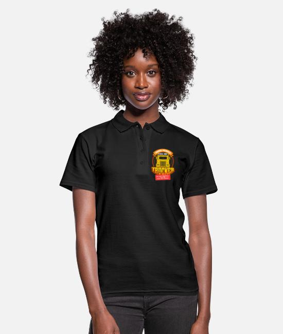 Occupation Polo Shirts - Mens Call Me Trucker Daddy Husband design | Truck - Women's Polo Shirt black