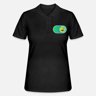Birthday For Dad Buttons Smile Button | Gift funny kids - Women's Polo Shirt