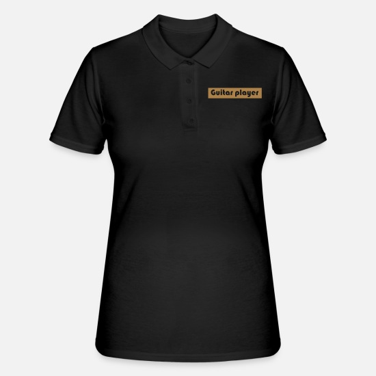 Guitar Player Poloshirts - Guitar player - Frauen Poloshirt Schwarz