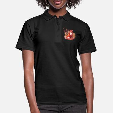 Herbstfuchs new world - Frauen Poloshirt