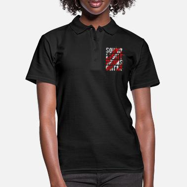 Sound Light Drums Guitar Hard Rock Music Gift - Women's Polo Shirt