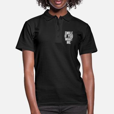 Smile if you want me single party saying Fli - Women's Polo Shirt