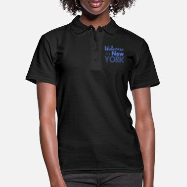 Nyc Welcome to New York Vintage - Women's Polo Shirt