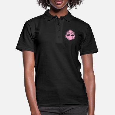 Beak flamingos in love face each other - Women's Polo Shirt