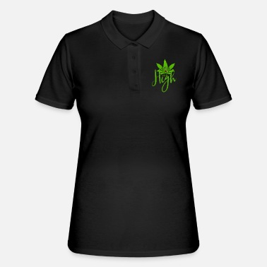 Cannabis Cannabisblatt Haschkottchen Fly High - Frauen Polo Shirt
