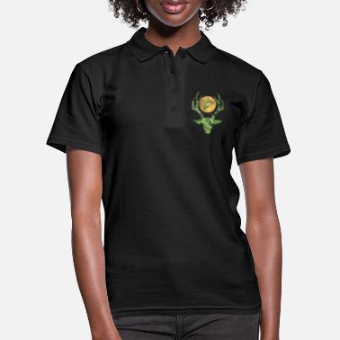 Performance deer head with moon and pentagram - Women's Polo Shirt