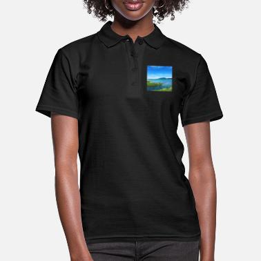 Mousepad Mousepad with beautiful Forggensee panorama - Women's Polo Shirt