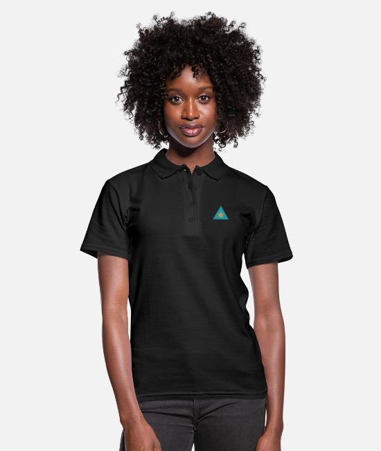 Star Polo Shirts - Triangle star - Women's Polo Shirt black