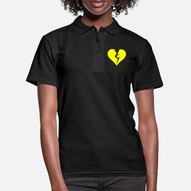 Heartache Yellow heart broken heartache - Women's Polo Shirt