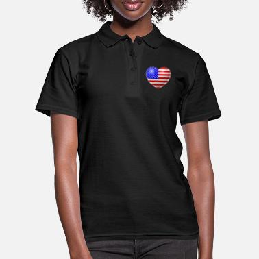 Usa Heart (USA / USA) - Women's Polo Shirt