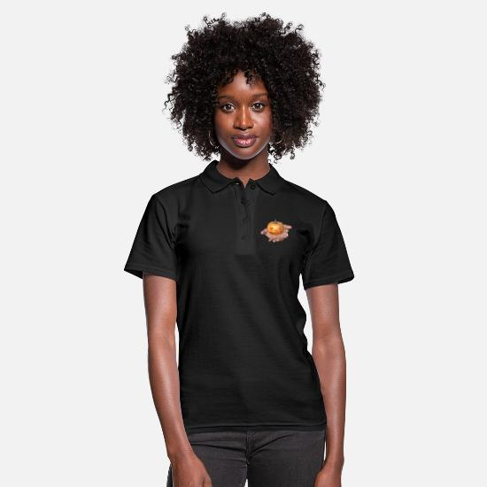 Halloween Polo Shirts - Pumpkin Halloween hand - Women's Polo Shirt black