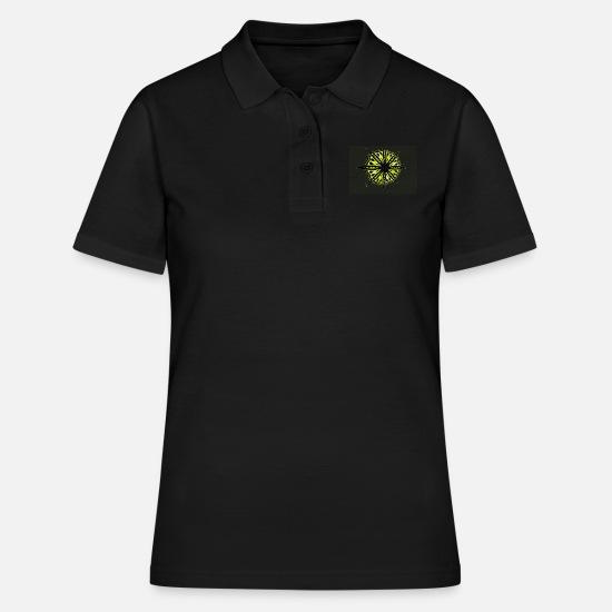 Modèle Cercle étoile Cadeau Abstrait Jaune Noir Polo Femme