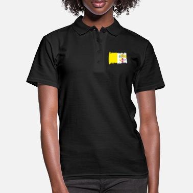 Mask Vatican National Flag - brush vertical - Women's Polo Shirt