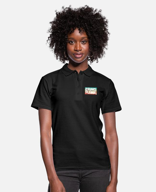 Festival Polo Shirts - drumsplease-01 - Women's Polo Shirt black