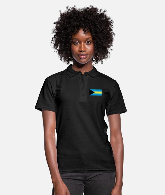 Vacation Polo Shirts - Bahamas; Flagge Bahamas - Women's Polo Shirt black
