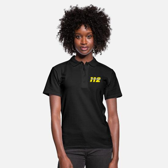 Fire Fighter Polo Shirts - Fire department emergency call 112 - Women's Polo Shirt black