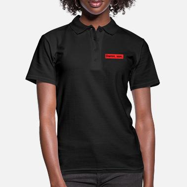 Schwarz damn, so saying English script - Women's Polo Shirt