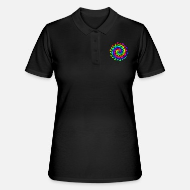 Colorful Rainbow Mandalas & Flower Power degli anni Sessanta - Women's Polo Shirt
