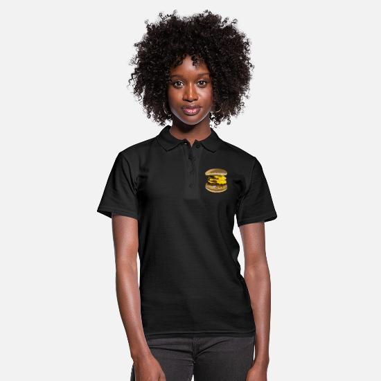 Triple Polo Shirts - Triple cheeseburger - Women's Polo Shirt black