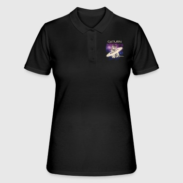 Caturn Cat Sarturn Funny Space Kitty - Women's Polo Shirt