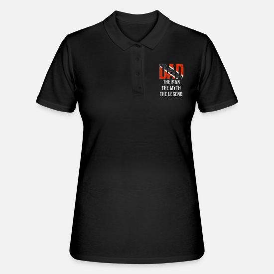 Trinidad And Tobago Polo Shirts - Trinidad And Tobago Dad Fathers Day - Women's Polo Shirt black
