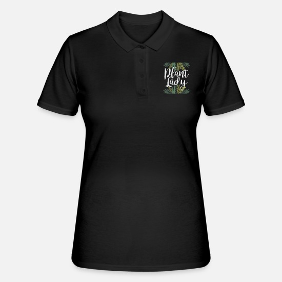 For Her Polo Shirts - Plant lady - Women's Polo Shirt black