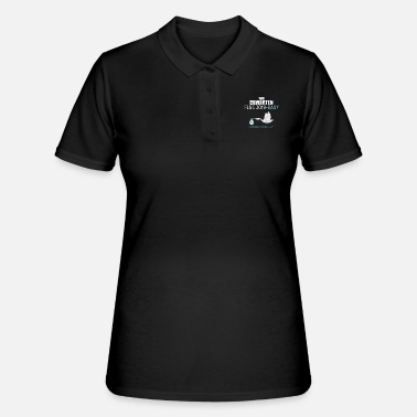 Stork Pregnant gift birth father Pregnant woman - Women's Polo Shirt