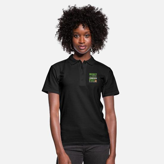 Napoli Polo Shirts - Money can't buy happiness but it can buy pizza - Women's Polo Shirt black