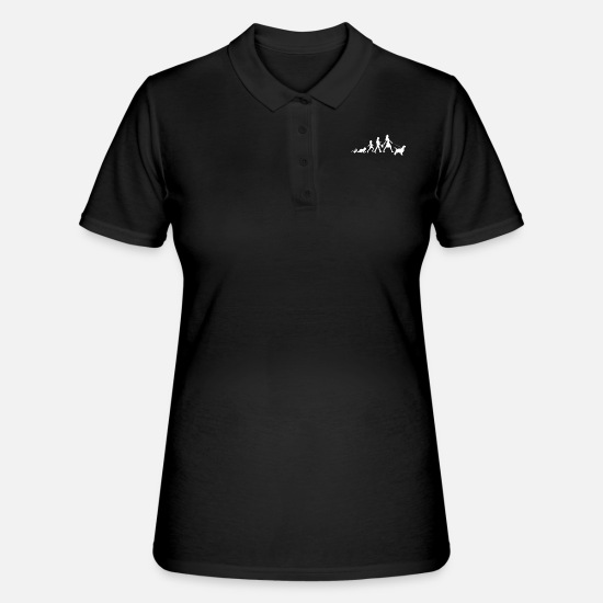 Wife Polo Shirts - English Springer Spaniel Gifts Grow Evolution - Women's Polo Shirt black