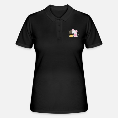 Cute Mouse Design - Cool For Mouse Lover - Women's Polo Shirt