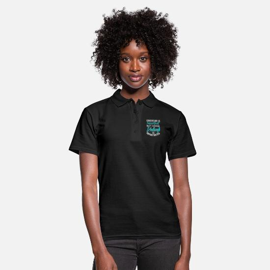 Horse Polo Shirts - Horse Riding Is Important | Funny Horse Quotes - Women's Polo Shirt black