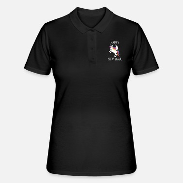 Production Year Happy New Year product Funny Unicorn print - Women's Polo Shirt