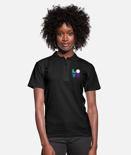 Love Polo Shirts - Volleyball player sport gift volleyball player - Women's Polo Shirt black
