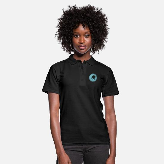 Gift Idea Polo Shirts - New Zealand kiwi backpacker - Women's Polo Shirt black