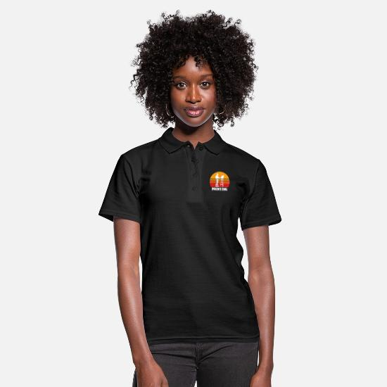 Sports Polo Shirts - Painting Sunset - Women's Polo Shirt black