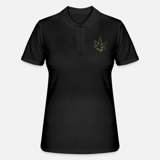 Hashish Polo Shirts - Weed green - Women's Polo Shirt black