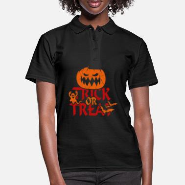 Trick Or Treat Trick or Treat bij Halloween - trick or treat - Vrouwen poloshirt