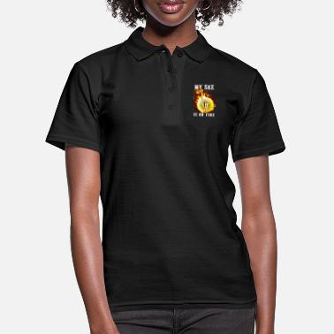 My sax is on fire - Saxophone - Frauen Poloshirt