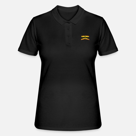 Patience Poloshirts - Thick Thighs Thin Patience - Frauen Poloshirt Schwarz